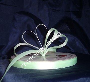 "Ribbon - Satin Ribbon- 3/8"" Single Face 100 Yards (300 FT) -Pale Green-Sewing-Craft -Wedding Favors"