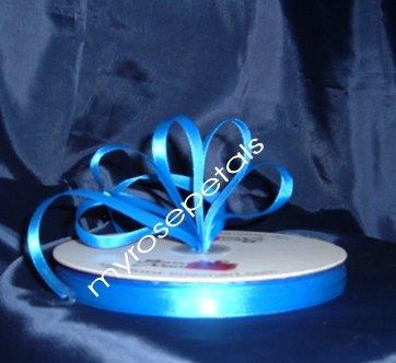 """Ribbon - Satin Ribbon- 3/8"""" Single Face 100 Yards (300 FT)- Royal Blue-Sewing-Craft -Wedding Favors"""