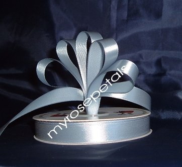 "Ribbon - Satin Ribbon- 5/8"" Single Face 50 Yards (150 FT) - Dusty Blue-Sewing-Craft- Wedding Favors"