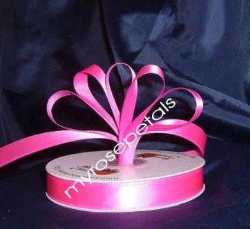 """Ribbon - Satin Ribbon- 5/8"""" Single Face 50 Yards (150 FT) - Hot Pink-Sewing-Craft- Wedding Favors"""