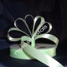 "Ribbon - Satin Ribbon- 5/8"" Single Face 50 Yards (150 FT) - Pale Green-Sewing-Craft- Wedding Favors"