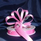 "Ribbon - Satin Ribbon- 5/8"" Single Face 50 Yards (150 FT) - Pink -Sewing-Craft- Wedding Favors"