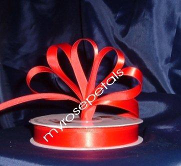 "Ribbon - Satin Ribbon- 5/8"" Single Face 50 Yards (150 FT) - Red -Sewing-Craft- Wedding Favors"