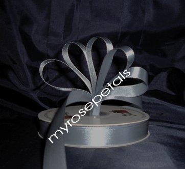"""Ribbon - Satin Ribbon- 5/8"""" Single Face 50 Yards (150 FT) - Silver -Sewing-Craft- Wedding Favors"""