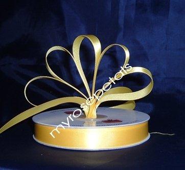 "Ribbon - Satin Ribbon- 5/8"" Single Face 50 Yards (150 FT) - Yellow -Sewing-Craft- Wedding Favors"