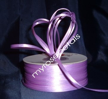 "Satin Ribbon- 1/8"" Double Face 100 Yards (300 FT) - Lavender -Sewing-Craft-Wedding Favors"