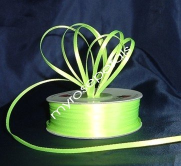 """Satin Ribbon- 1/8"""" Double Face 100 Yards (300 FT) - Lime Green -Sewing-Craft-Wedding Favors"""