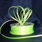 "Satin Ribbon- 1/8"" Double Face 100 Yards (300 FT) - Lime Green -Sewing-Craft-Wedding Favors"
