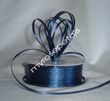 """Satin Ribbon- 1/8"""" Double Face 100 Yards (300 FT) - Navy Blue -Sewing-Craft-Wedding Favors"""