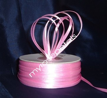 """Satin Ribbon- 1/8"""" Double Face 100 Yards (300 FT) - Pink -Sewing-Craft-Wedding Favors"""