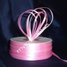 "Satin Ribbon- 1/8"" Double Face 100 Yards (300 FT) - Pink -Sewing-Craft-Wedding Favors"
