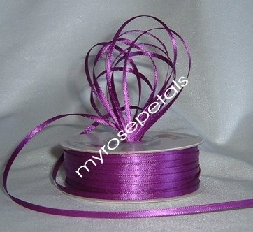 """Satin Ribbon- 1/8"""" Double Face 100 Yards (300 FT) - Purple -Sewing-Craft-Wedding Favors"""