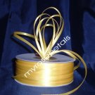 "Satin Ribbon- 1/8"" Double Face 100 Yards (300 FT) - Yellow -Sewing-Craft-Wedding Favors"