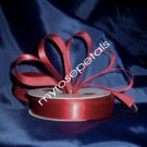 "Satin Ribbon- 7/8"" Double Face 50 Yards (150 FT) - Burgundy -Sewing-Craft - Wedding Favors"