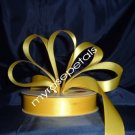"Satin Ribbon- 7/8"" Double Face 50 Yards (150 FT) - Yellow -Sewing-Craft - Wedding Favors"