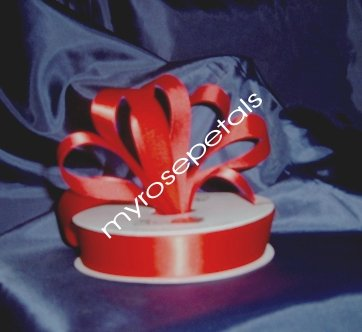 "Satin Ribbon- 7/8"" Double Face 50 Yards (150 FT) - Red -Sewing-Craft-Wedding Favors"