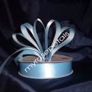 "Satin Ribbon- 7/8"" Double Face 50 Yards (150 FT) - Light Blue -Sewing-Craft-Wedding Favors"