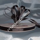 "Grosgrain Ribbon 3/8"" - 50 Yards (150 FT) - Black - Sewing - Craft - Wedding Favors"