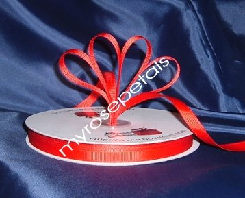 """Grosgrain Ribbon 3/8"""" - 50 Yards (150 FT) - Red - Sewing - Craft - Wedding Favors"""