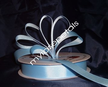 "Grosgrain Ribbon 7/8"" - 50 Yards (150 FT) - Light Blue -Sewing- Craft - Wedding Favors"