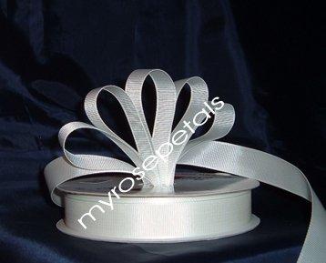 "Grosgrain Ribbon 7/8"" - 50 Yards (150 FT) - White -Sewing- Craft - Wedding Favors"