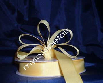"Grosgrain Ribbon 7/8"" - 50 Yards (150 FT) - Yellow -Sewing- Craft - Wedding Favors"
