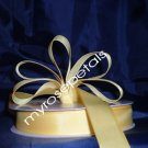 "Grosgrain Ribbon 7/8"" - 50 Yards (150 FT) - Yellow -Sewing- Craft - Wedding Favors"
