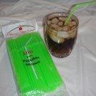 Straws - Flex/Flexible Drinking Straws - Luau - Wedding - Party - Lime Green - 100 Flexible Straws