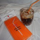 Straws - Flex/Flexible Drinking Straws - Luau - Wedding - Party - Orange - 100 Flexible Straws