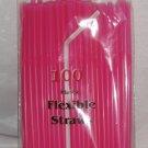 Straws - Flex/Flexible Drinking Straws - Luau - Wedding - Party - Hot Pink - 200 Flexible Straws