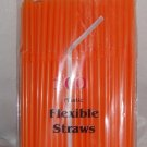 Straws - Flex/Flexible Drinking Straws - Luau - Wedding - Party - Orange - 200 Flexible Straws