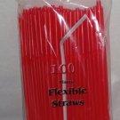 Straws - Flex/Flexible Drinking Straws - Luau - Wedding - Party - Red - 200 Flexible Straws