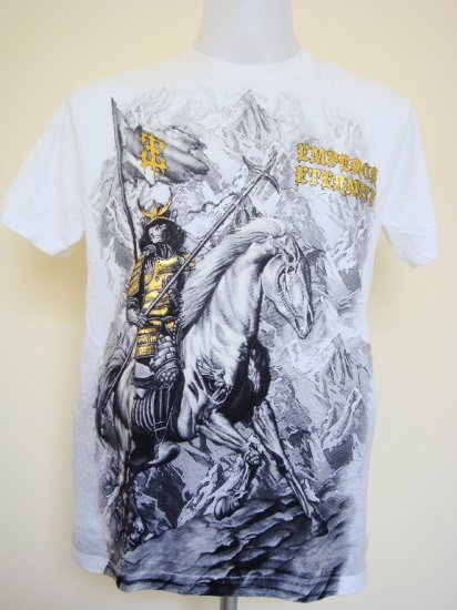 Shiroi Neko Design by Eternity Devil Knight Emperor Skull T-Shirt White Size L