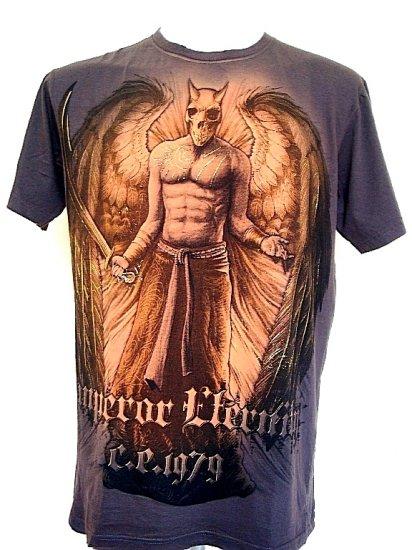 Emperor Eternity Devil  Skull Angel Eagle T-Shirt Brown L