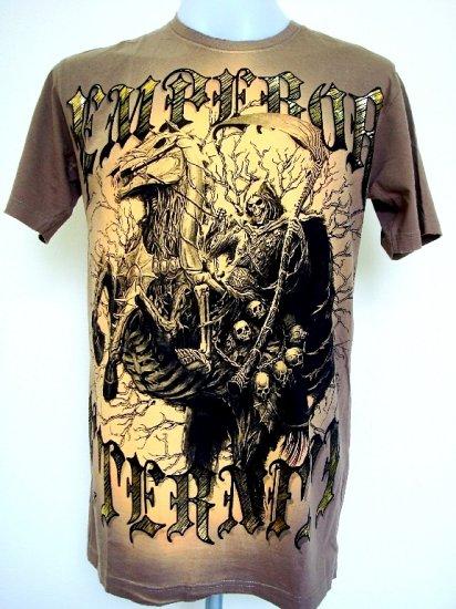 Emperor Eternity Devil Knight Reaper Horse Castle T-Shirt L