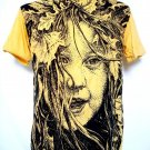 Mens Womens Girl Emo Punk Urban Soft Top Cotton T-Shirt Yellow