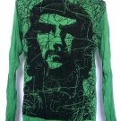 Mens Womens Che Guevara Cuba Revolution Long Sleeve Shirt Green