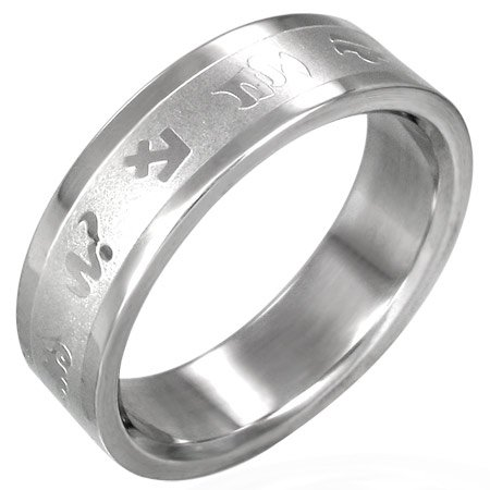 316L Stainless Steel Zodiac Symbols Astrology Ring