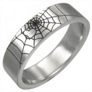 316L Surgical Stainless Steel Spider Web Ring Size 12