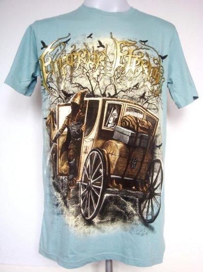 Emperor Eternity Horse Carriage Devil Death Sword T-Shirt Blue L