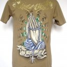 Emperor Eternity Prayer Immortal Cross Tattoo T-Shirt Olive M