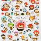 San-X Raccoon Kireizukin Seikatsu Sticker Sheet kawaii Stickers