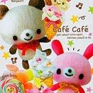 Kamio Japan Cafe Cafe Memo Pad #1 kawaii cute bears bunny lollipops sweets ice cream