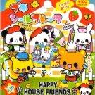Kamio Japan Happy House Friends Sticker Sack kawaii