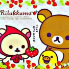 San-X Rilakkuma Strawberry Mini Memo Pad #1 kawaii cute