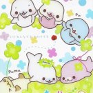 San-X Mamegoma Clovers Mini Memo Pad #3 kawaii seals