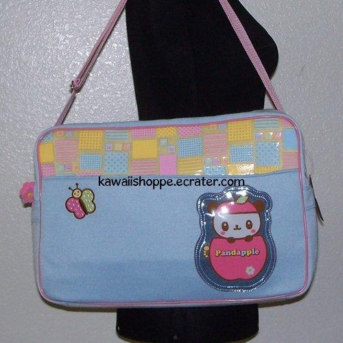 25% OFF SALE NWT Sanrio Large Pandapple Shoulder Messenger Diaper Tote Bag (Blue)
