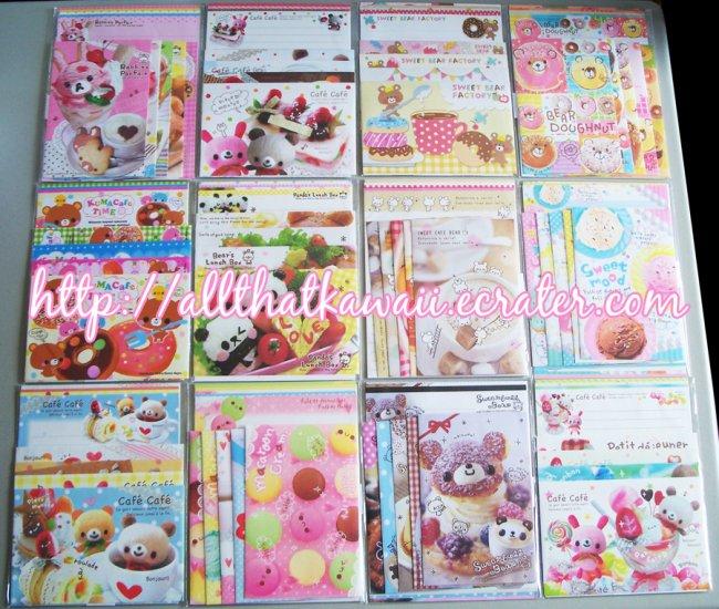 Food Desserts Letter Set Grabbie Lot 54 Envelopes, 108 Sheets Kawaii Kamio CRUX Pool Cool