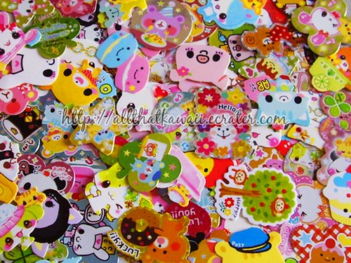 100 Loose Sticker Flakes + Surprise Extra Crux Desserts Food Kamio Mind Wave Stickers Kawaii
