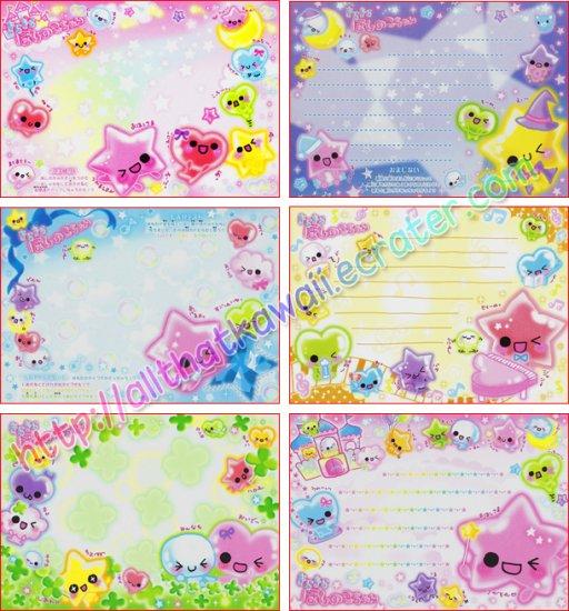 Hearts & Stars Loose Memo Sheets by Crux Japan